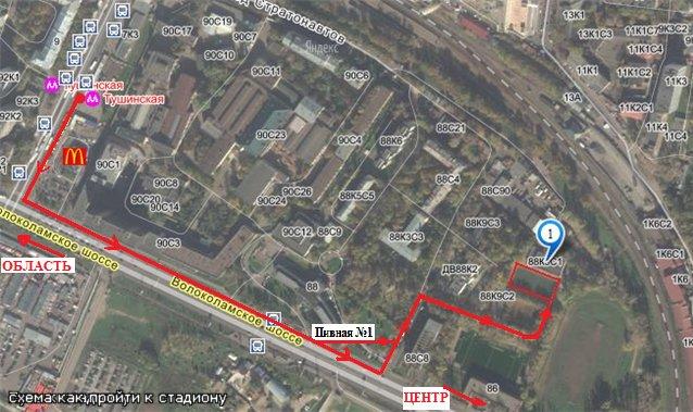 Маршрут автобуса 120 на карте Воронежа